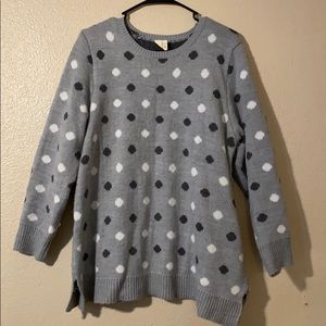 🎉 Faded Glory Polka Dot Sweater